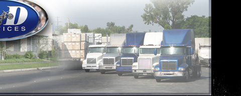 D and D Services, fleet of trucks.